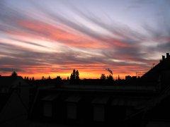 Sonnenuntergang über Karlsruhe