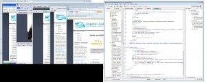 Screenshot mit IE6 (virtuelles XP), IE7, Firefox, Safari und Opera sowie Eclipse zur Entwicklung.